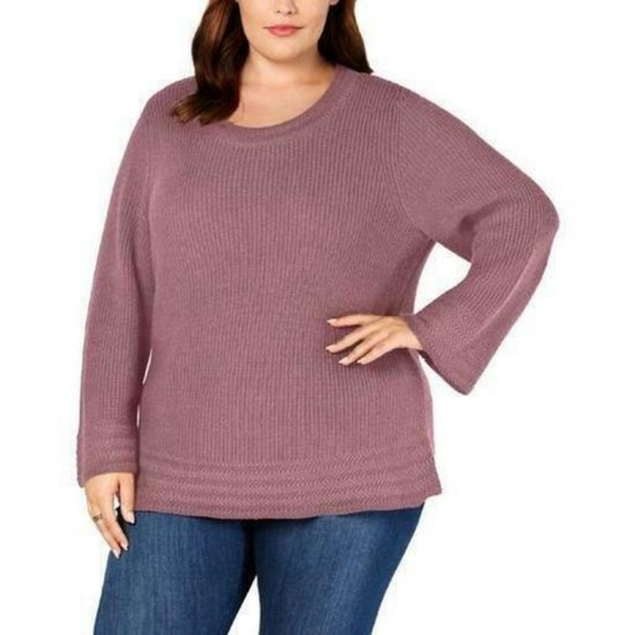 Style & Co Sweaters - Style & Co Women's Plus Chunky Long Sleeve Sweater